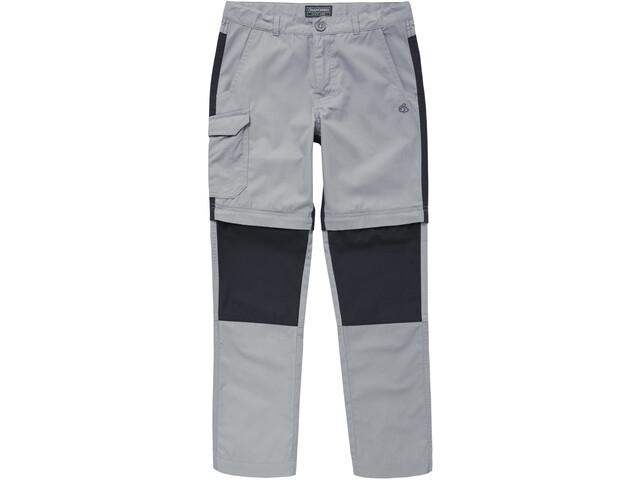 Craghoppers Kiwi Convertible - Pantalones Niños - gris/negro